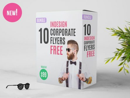 10 FREE InDesign Bundle: 10 Corporate Flyer Templates