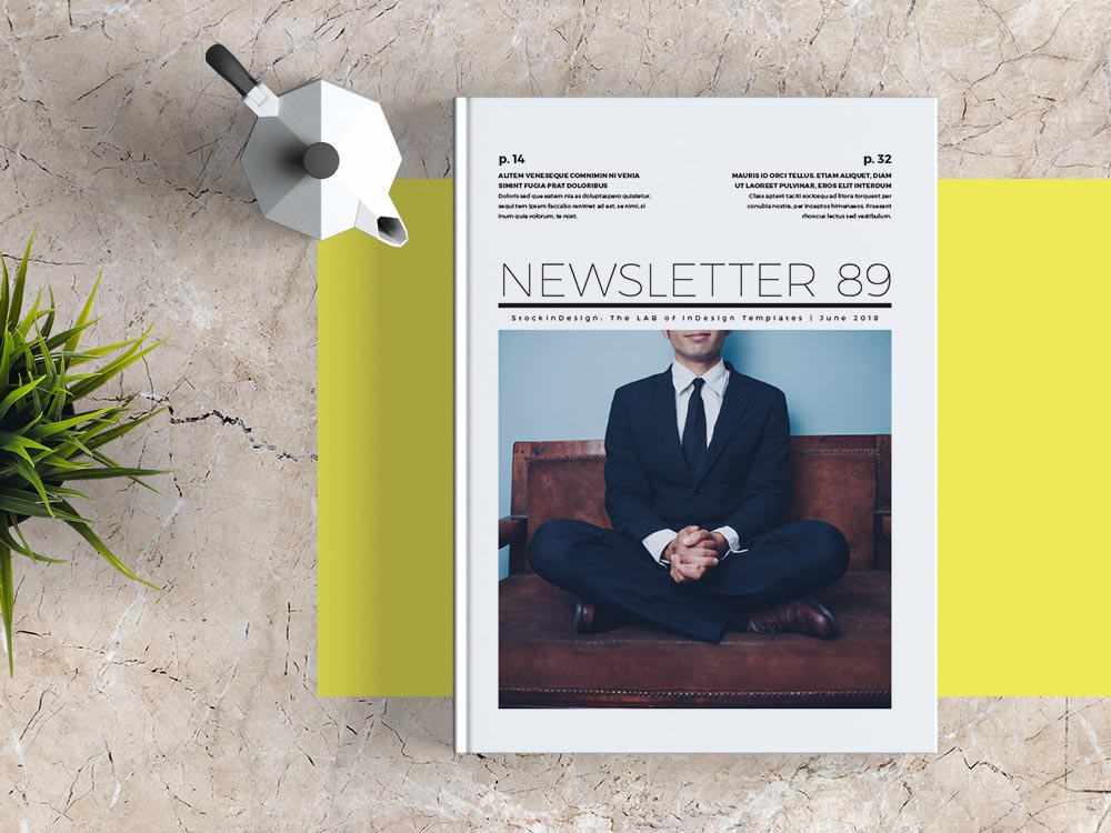 Free Newsletter Template For Adobe Indesign | Free Indesign Templates