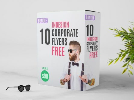 FREE InDesign Bundle: 10 Corporate Flyer Templates