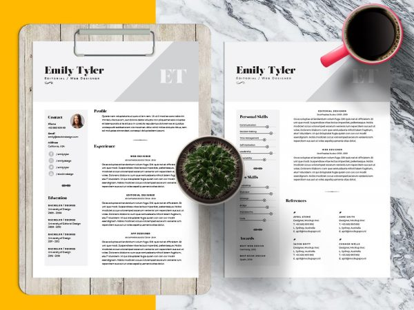 Free Professional Resume Template InDesign