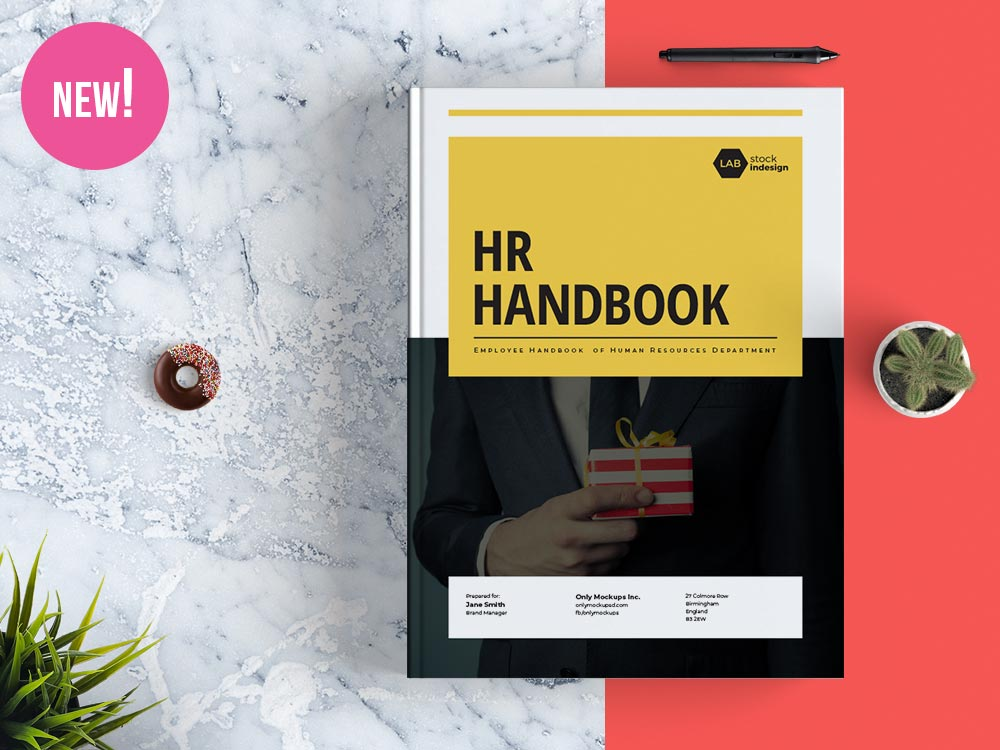employee handbook design template
