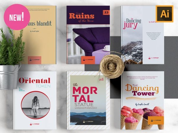 10 Book Cover Templates for Adobe Illustrator