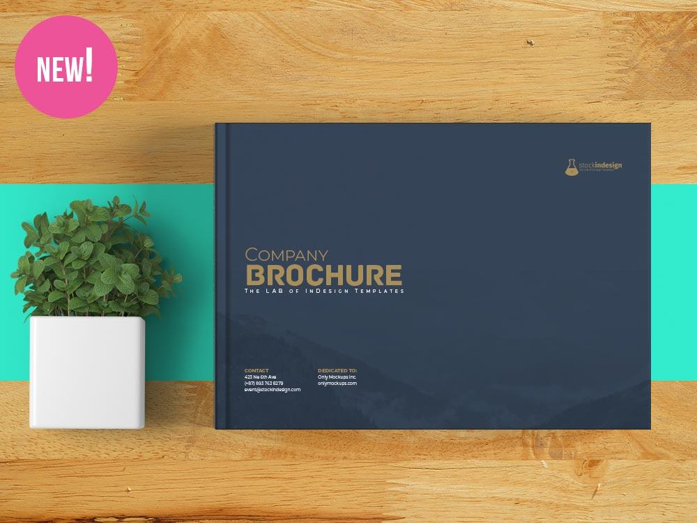 Landscape Corporate Brochure Template for InDesign