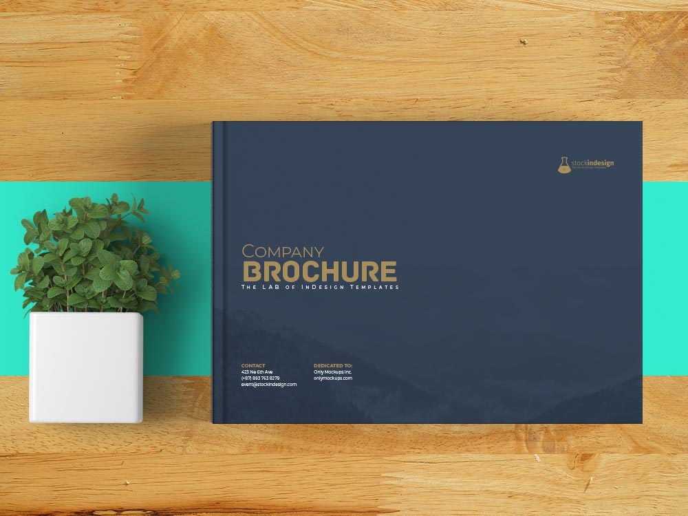 Landscape Corporate Brochure Template for InDesign