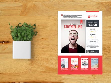 Flyer Template for Book Promotion