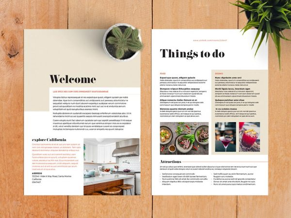 Airbnb Welcome Kit Template