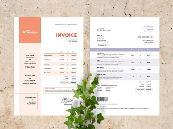5 Invoice Templates for InDesign