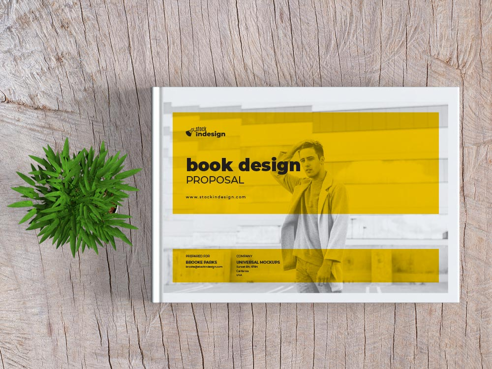 Book Design Proposal Landscape Stockindesign