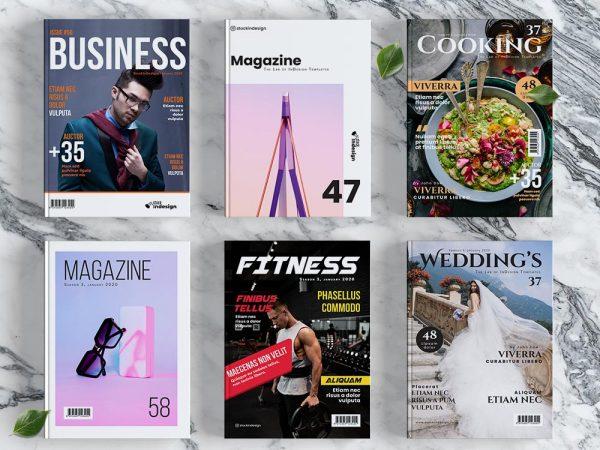 10 Magazine Cover Templates