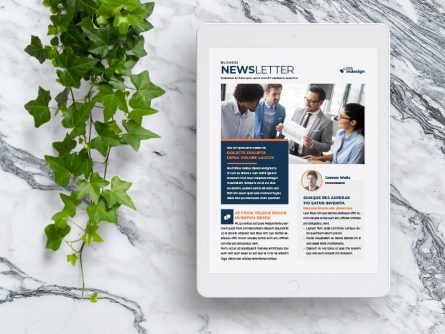 Newsletter Template for iPad