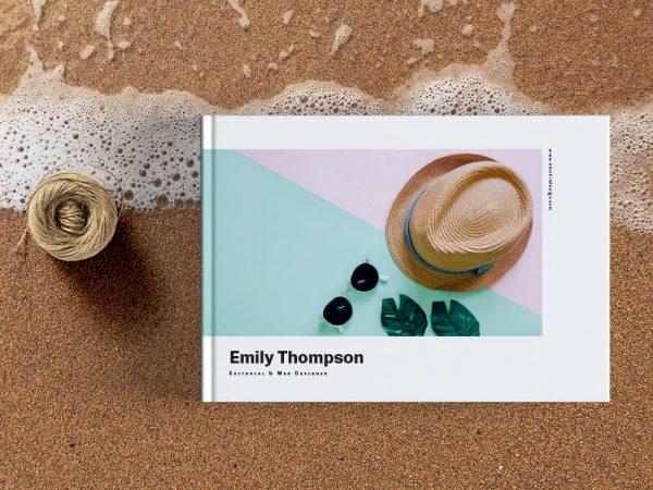 Landscape Portfolio Template for InDesign