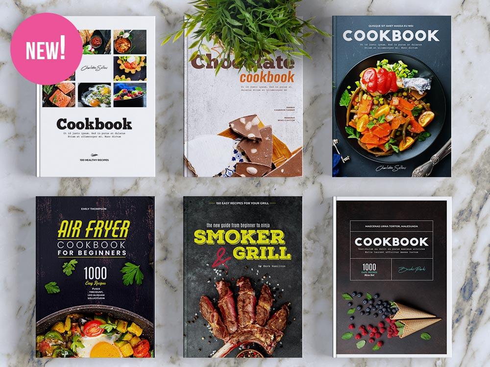 10 Covers for Cookbook in Adobe Illustrator