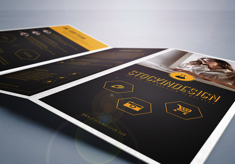 Stockindesign trifold corporate brochure template for Stockindesign