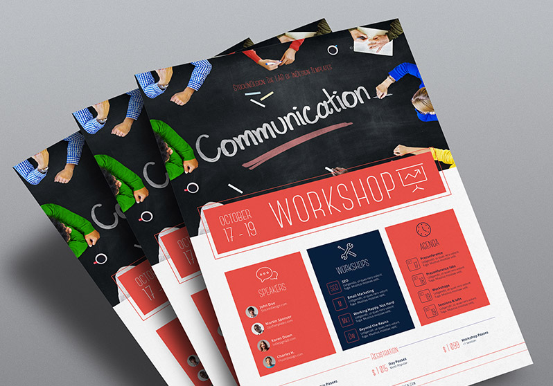 High Quality Workshop Flyer Template