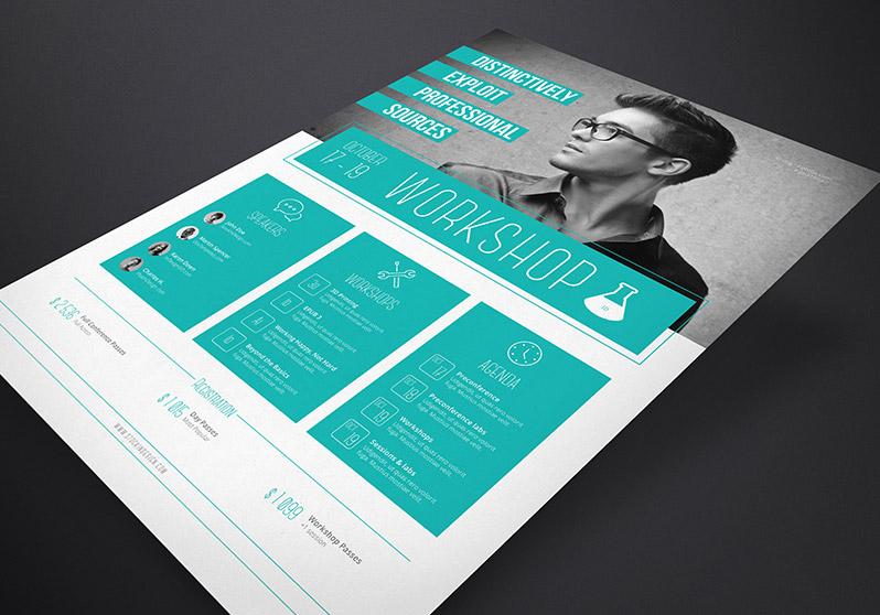 stockindesign corporate flyer template workshop. Black Bedroom Furniture Sets. Home Design Ideas